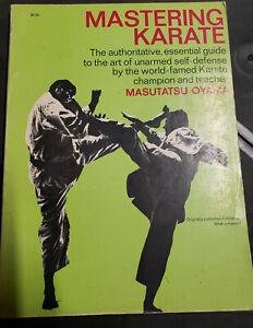 """Mastering Karate by Masutatsu """"Mas"""" Oyama PB martial arts, Kyokushin kai book"""