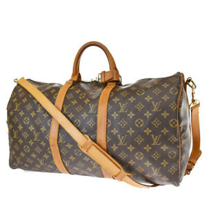 Authentic LOUIS VUITTON Keepall Bandouliere 50 Hand Bag Monogram M41416 10MH604