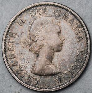 Canada Elizabeth II 1961 Silver Dollar   #150923