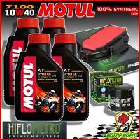 Oil Replacemenet Kit MOTUL 7100 10W40 + Filters Honda Nc 750 X DCT 2017 2018