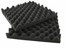 "12 Pack Acoustic Studio Soundproofing Egg Crate Foam Wall Tiles 2"" X 10"" X 10"""