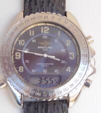 Breitling Intruder Chronographe Reveil Quartz 200M Watch Serviced + Warranty