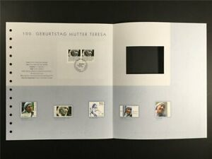 GERMANY ART-EDITION 2010/25 MOTHER TERESA INDIA UNISSUED DRAFTS!!