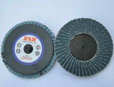 10pcs 3 In Mini Flpa Disc 40 Grit Sanding Grinding Roloc Quick Change Type R