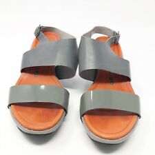 TSUBO Womens Size 7 / UK 5 . 5 Gray Leather Wedge Sandals