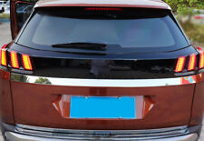 For Peugeot 3008 16-18 Car Accessory Black Rear Tail Light Decal Cover Sticker