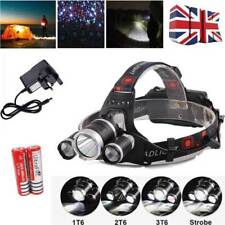 Waterproof Powerful 12000lm LED 3x Xm-l Headlight Torch Rechargeable T6 Headlamp