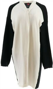 Vince Camuto Open Front Color-Block Cardigan Black M NEW A347165