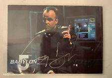 Babylon 5 Jerry Doyle Hand Signed Michael Girabaldi 1995 Fleer Trading Card #102
