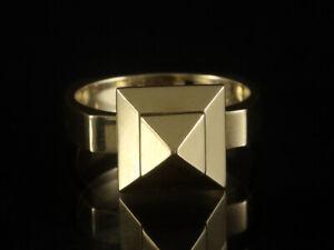 """C. Teufel Kinetischer Ring """"Pyramide"""" mit Bewegung   6,8g 585/- Gelbgold"""