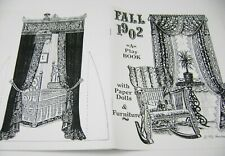 Vtg Paper Dolls 1992 Sandra Vanderpool 1902 Fall Play Book Gorgeous Color!