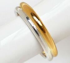 Damenring bicolor 21,6 Karat 900 Gold Gelbgold 925 Sterling Silber 8,37 g Gr. 60