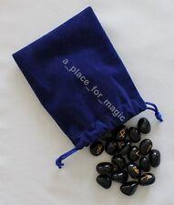 NEW Black Onyx Gemstone Runes Rune Set