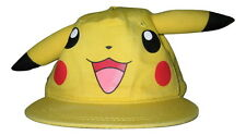 PIKACHU Pokemon Baseball Cap Hat Adjustable Snap-Back EARS Mens S/M or Youth OS
