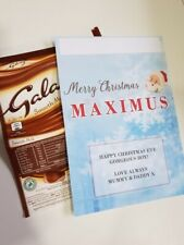 STOCKING FILLER PERSONALISED Christmas Chocolate Bar Wrapper For Galaxy 110g
