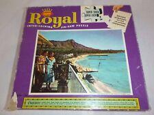 Vtg 50s 60s Jaymar Royal Jigsaw Puzzle Waikiki Beach Hawaii Complete Super Thick