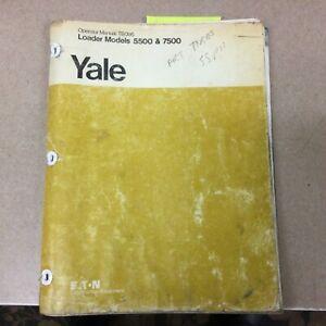 Trojan Yale Eaton 5500 7500 WHEEL LOADER OPERATOR MANUAL MAINTENANCE GUIDE TB095