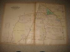 ANTIQUE UPPER MERION TOWNSHIP DELAWARE COUNTY PENNSYLVANIA MAP INDIAN SCHOOL NR