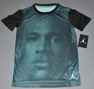 NWT Nike Jumpman® Boys MICHAEL JORDAN Hyper Photo DRI-FIT Turq Tee Shirt -SMALL-