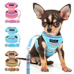 Chihuahua Small Dog Harness and Leash Reflective Mesh Padded Walking Vest Yorkie