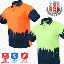 HI VIS Polo Shirt Melted 2 TONE AS/NZS 1906 4602 Standard COOL DRY SHORT SLEEVE