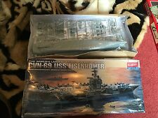 Academy 1:800 USS Eisenhower CVN-69 Aircraft Carrier Model Kit NEW BOX DAMAGED