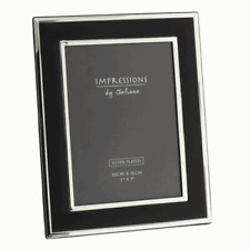 Photo Frame Silver Plated Black Mount 5x7