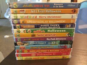 Lot of 13 Kid DVDs, Dinosaur Train, Daniel Tiger, Wild Kratts & More BRAND NEW