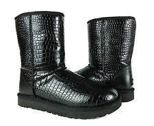 UGG Australia Classic Short Croco Black Boots Womens 9 *NEW*