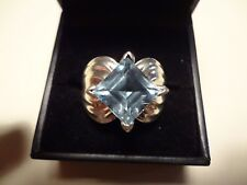 #464 LARGE VINTAGE STERLING SILVER RING-925-SIZE-9-BEAUTIFUL LARGE STONE