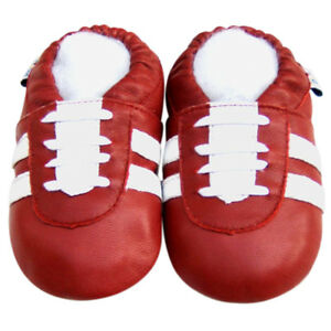 Littleoneshoes Soft Sole Leather Baby Infant Kid Children SportRed Shoe 0-6M