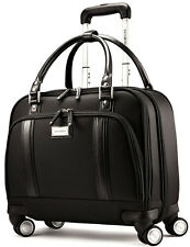 Samsonite Womens Spinner Mobile Wheeled Office Laptop Briefcase - Black