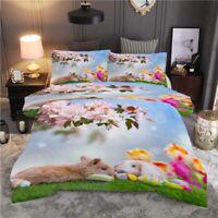 Rabbit Baseball 3D Printing Duvet Quilt Doona Covers Pillow Case Bedding Sets