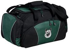 Norwegian Elkhound Embroidered Duffel Bag