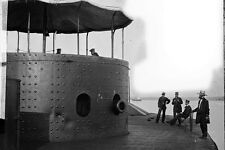 New 5x7 Civil War Photo: Deck and Turret of USS MONITOR on the James River