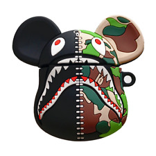 Bape Shark BearBrick Camo A BATHING APE 3D Silicone Case Cover For Apple Airpods