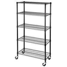 """5 Tier 60""""x30""""x14"""" Shelving Rack  Heavy Duty Layer Wire Steel Shelf Adjustable"""