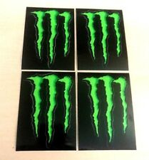 "4 x MONSTER ENERGY 4"" STICKERS GREEN CLAW 100% ORIGINAL DECAL"