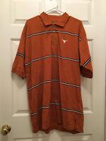 NWT University of Texas Longhorns Men's Short Sleeve Logo Striped Polo Shirt XL