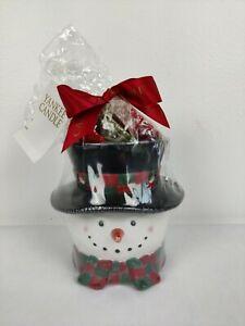 "Yankee Candle Holiday Christmas Snowman 5"" Wax Burner Gift Set New"