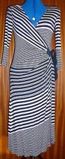 Fenn Wright and Manson navy stripe dress size 10