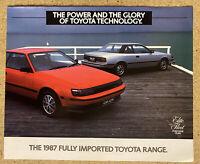1987 Toyota Range original Australian sales brochure