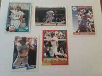 Lot of 5 of Orioles & Dodgers Hall of Famer Eddie Murray cards 1981Topps +4 more