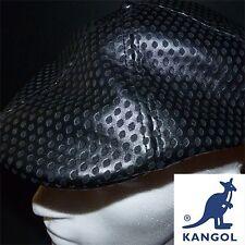 Kangol Trucker Faux Leather Flat Cap Black 504 Extra Large BNWT
