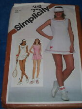 SIMPLICITY #5142-LADIES ( 3 STYLE ) TENNIS DRESS - BLOOMERS & VISOR PATTERN 14FF