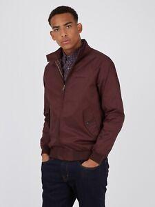 Ben Sherman Signature Harrington Jacket Bordeaux 0059148