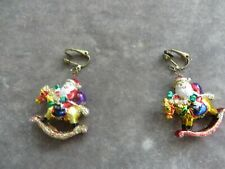Christmas earrings clip top Rare quality Pair of stunning Art Deco Father