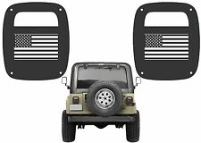 American Flag Tail Light Covers For 1985-2006 Jeep Wrangler New Free Shipping