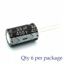 33uF 450v Electrolytic Radial Lead Capacitor (6 Pieces)