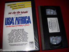 USA for AFRICA We are the World (1985) VHS EMI Music ed. Inglese Import  Bowie